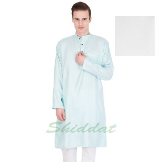 Cotton long kurta - Sky blue colored