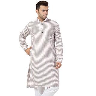 Striped Cotton Kurta for Men