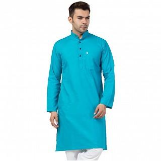Cotton Kurta for Men- Blue