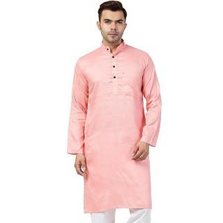 Casual Cotton Kurta for Men- Pink