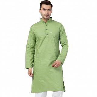 Cotton Kurta for Men- Green