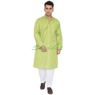 Khadi Cotton Kurta- Green