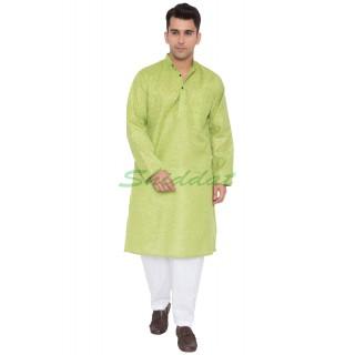 Men's Cotton Kurta- Green