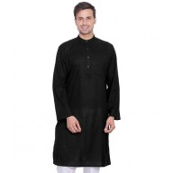 Cod Gray Black Kurta