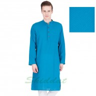 Cotton long kurta with Dobby weave