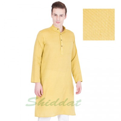 Woven long Kurta- Cotton dobby fabric