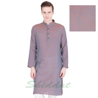 Woven long kurta - Cotton
