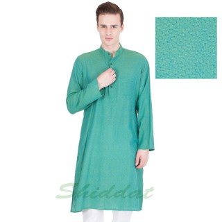Fountain Blue long Kurta - Cotton dobby fabric