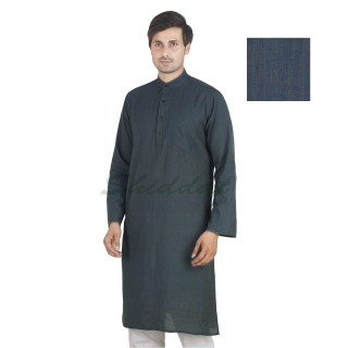 Long Kurta - Oxford Blue in cotton fabric