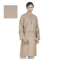 Long kurta - Bison colored in cotton fabric