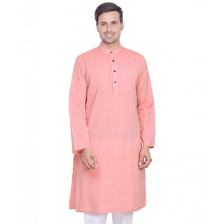Royal Men's Pink Color Kurta