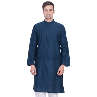 Kurta in rhino blue color