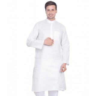 khadi kurta for mens- whisper white
