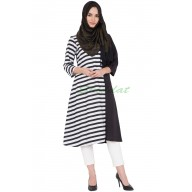 Black and white stripped Kurti