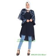 Designer Kurti- Blue and White