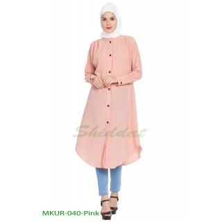 Front open Kurti- Pink