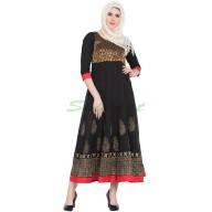 Anarkali dress - Black Crepe