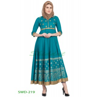 Anarkali dress - Sea Green