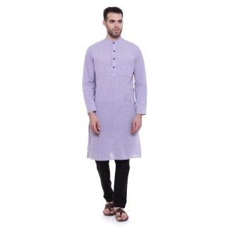 Long Kurta -Light colored colored in cotton fabric