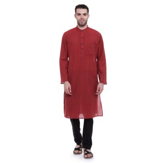 Cotton kurta for men - Stiletto colored