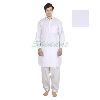 Pathani suit- White Lilac colored in cotton fabric