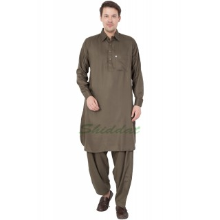 Pathani kurta for mens- Mehendi Color