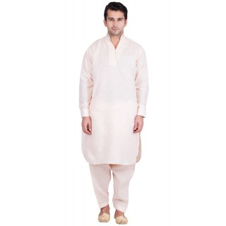 Chinese Neck Pathani Suit- Cavern Pink