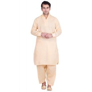 Khadi Jacquard Pathani Suit