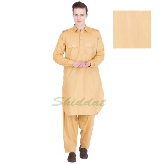 Pathani suit- Gold sand colored