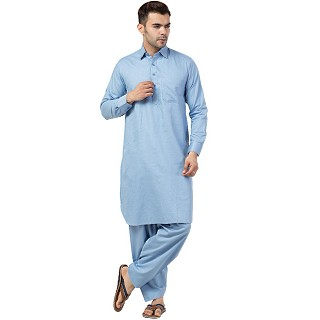 Pathani kurta for Men- Sky Blue