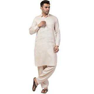 Pathani kurta for Men- Cream