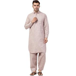 Pathani kurta for Men- Light Pink