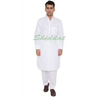 Pathani suit- Solid white