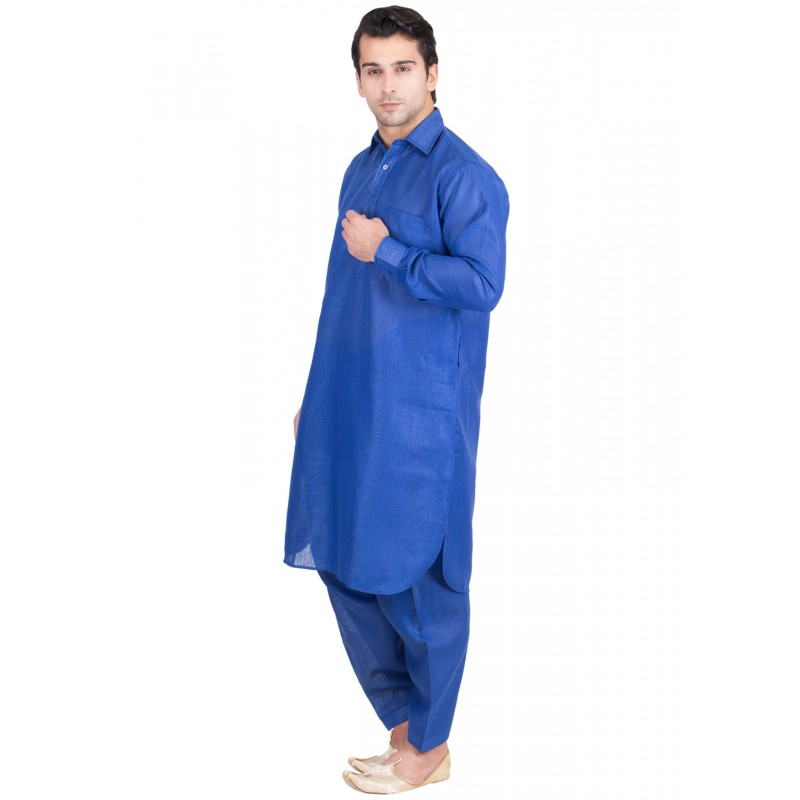 Pathani suit, Royal blue colored