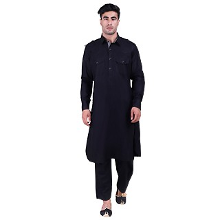 Pathani suit for men- Black