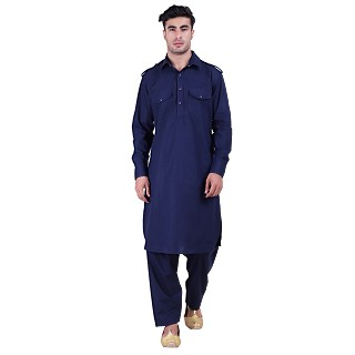 Pathani suit for men- Navy Blue