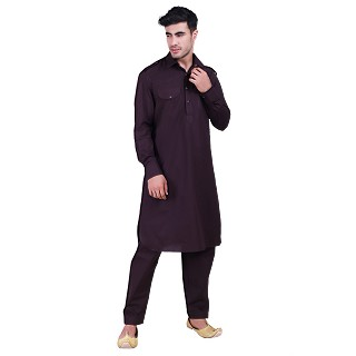 Pathani suit for men- Purple