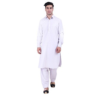 Pathani suit for men with regular collar- Grey