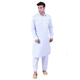 Pathani suit for men- Sky Blue