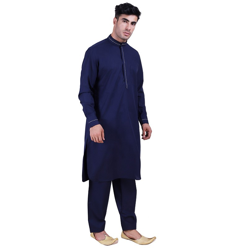 a9b92d4d5 Pathani Suit with mandarin collar for men online in India | Cotton fabr.