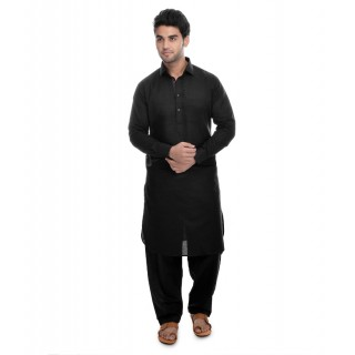 Black colored Pathani suit