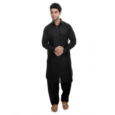 Pathani suit for mens- Black colored