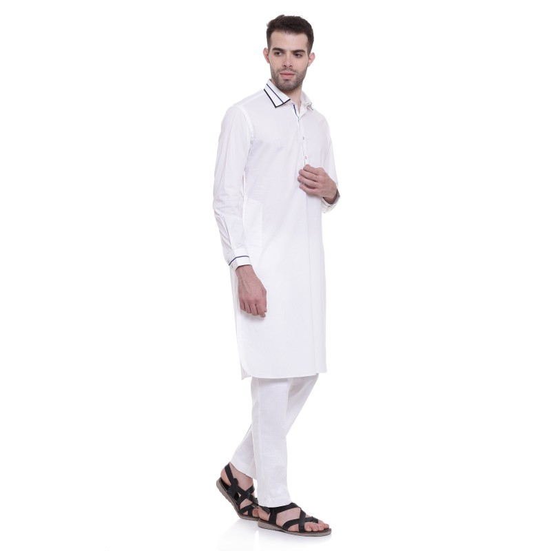 Pathani Suits For Men Online In India Linen Fabric White