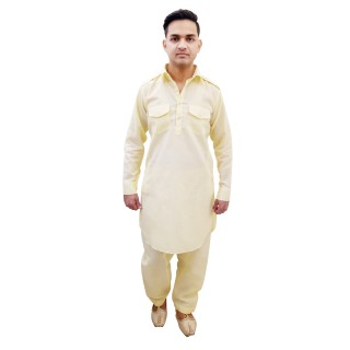 Pathani suit- Lemon