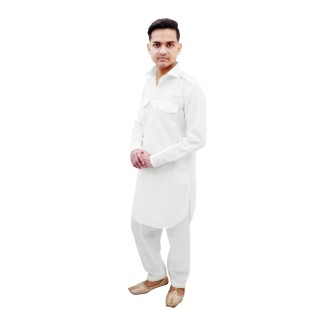 Pathani suit-  White