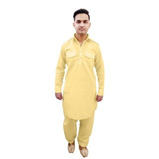 Pathani suit- Light Fawn