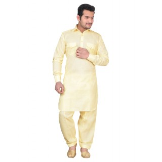 Pathani dress for men- Lemon