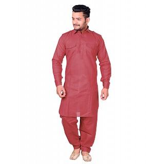 Pathani dress for men- Dark Pink