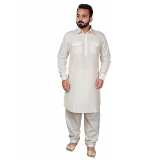 Pathani dress for men- Off White