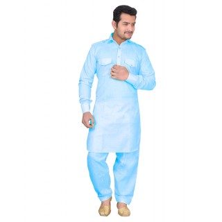 Pathani kurta - Sky Blue